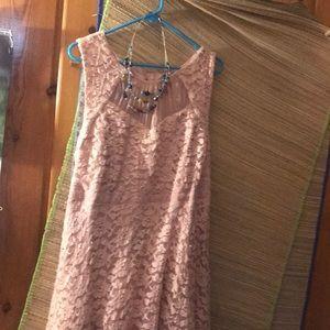 TORRID MAUVE LACE PARTY DRESS, 18/ lace petticoat